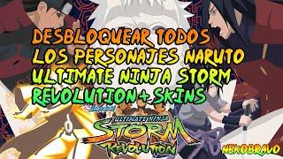 Desbloquear todos los personajes Naruto Shippuden Ultimate Ninja Storm Revolution.