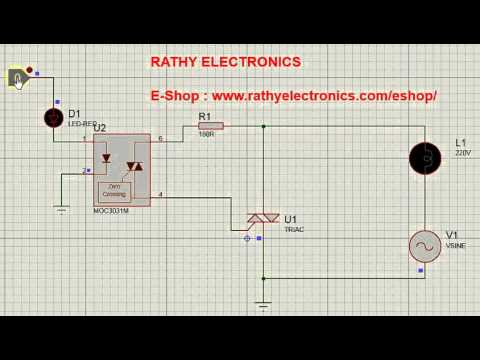 Controlling AC Appliance using Triac & Opto Coupler - YouTube