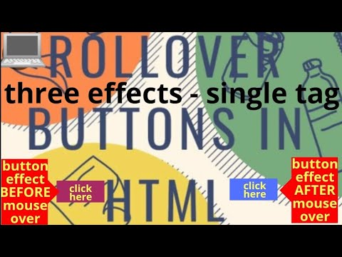 Rollover Buttons In HTML,web Page Designing Practicals,web Technology Tutorials, HTML Coding