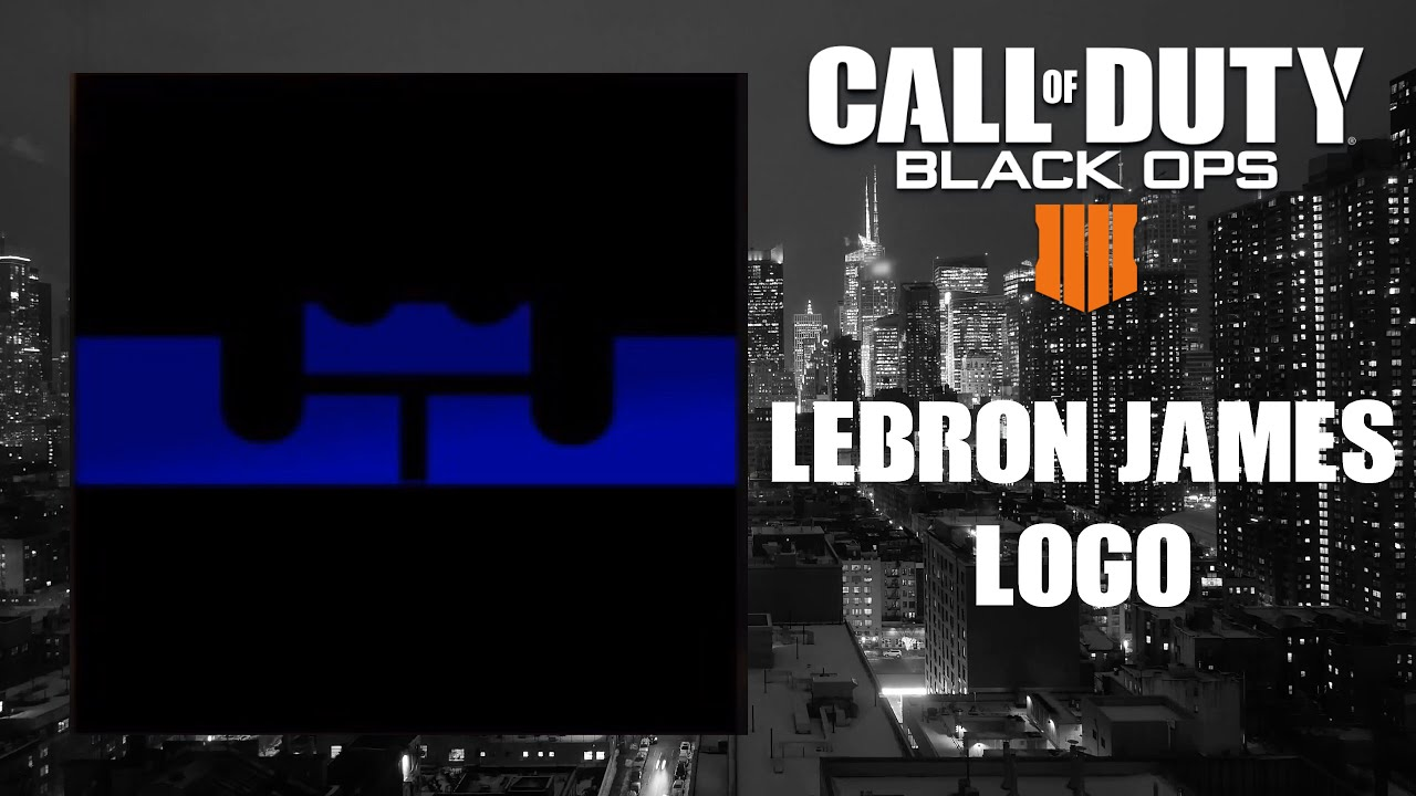 Black Ops 4 Emblem Tutorial - LeBron James Logo