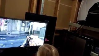 My 8 Year Old Daughters first time ever Gaming on PC !! || COD Advanced Warfare W/ Mouse Keyboard 4k