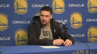 Klay Thompson has funny back and forth with Warriors PR regarding his assist total