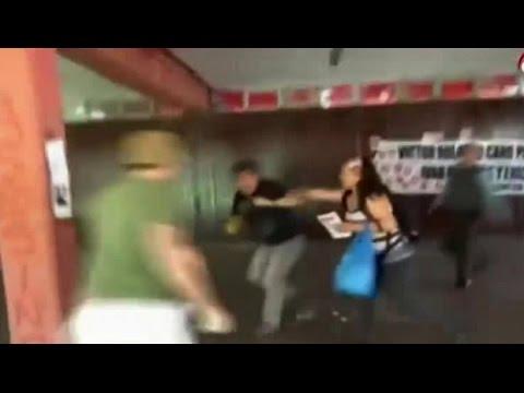 Funa a ex agente de la CNI terminó con pelea en Providencia - CHV Noticias
