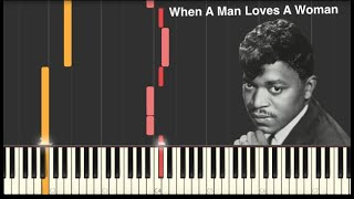 When a Man Loves a Woman - Percy Sledge - Piano Tutorial [MIDI file and Sheets in Description]
