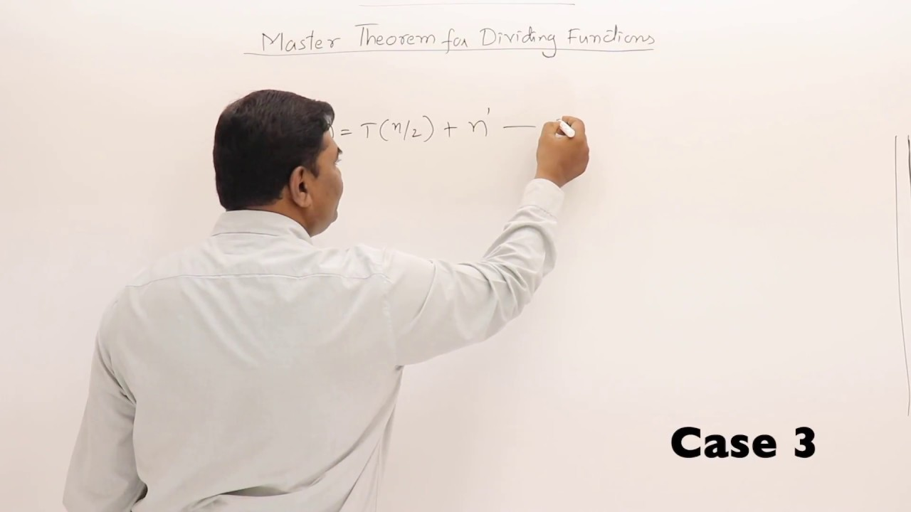 242 Examples For Master Theorem 2 Youtube