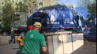 Американський сміттєвоз Нью Вей на МАЗ Казахстане_New Way rear loader in Almaty, Kazakhstan_2015