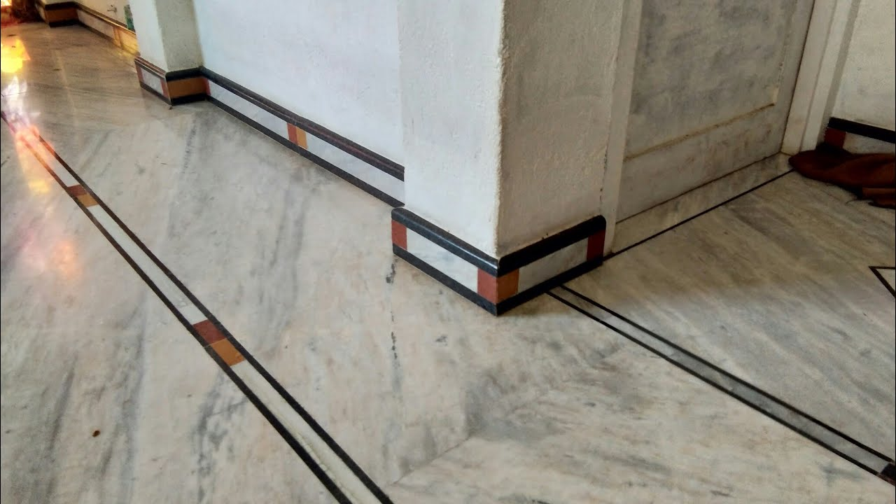 Indian Marble Flooring With Bouder Design Youtube