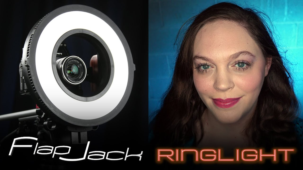 Flapjack Led Ring Light Beautiful Diffused Portrait And