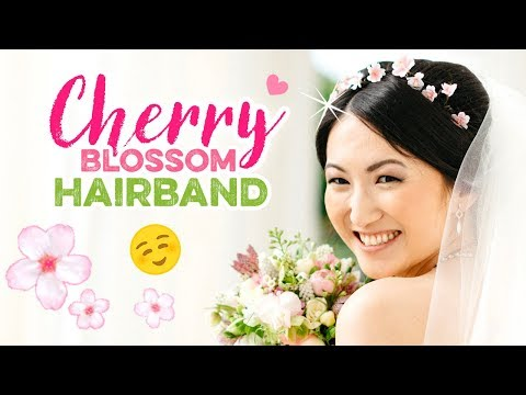 DIY Cherry Blossom Flower Crown!! Wedding Ideas & Bridal Style! How To Make Paper Clay Flowers