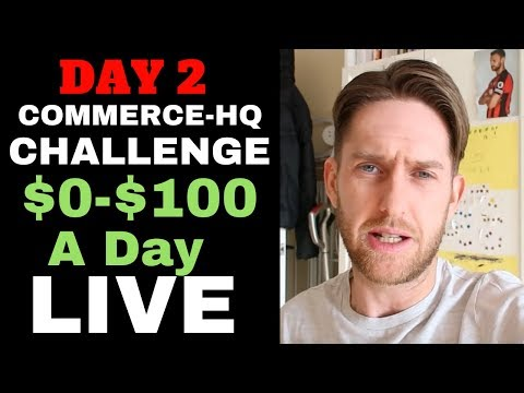 (Day 2) COMMERCE HQ $0-$100 A DAY CHALLENGE: PRODUCT RESEARCH LIVE