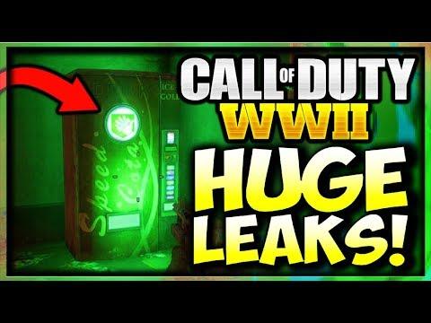 Call of Duty WW2 ZOMBIES LEAKED PERKS, GOBBLEGUMS, POWERUPS, & FLAMETHROWER World War 2 ZOMBIES INFO