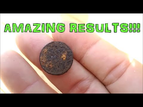 Rusty 1943 Steel Wheat Penny Cleaned - Amazing Results!