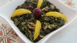 Moroccan Spinach Salad Recipe (bakkoula Style) - Cookingwithalia - Episode 230