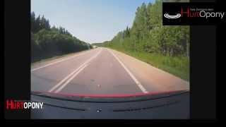 Wypadek samochodowy, Wystrzał opony Reklama