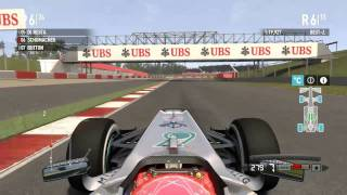 F1 2011 Gameplay / Schumacher / 20% Barcelona / Expert