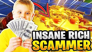 INSANE Rich Scammer perd l'inventaire entier! (Scammer Obtient Scammed) Fortnite sauver le monde