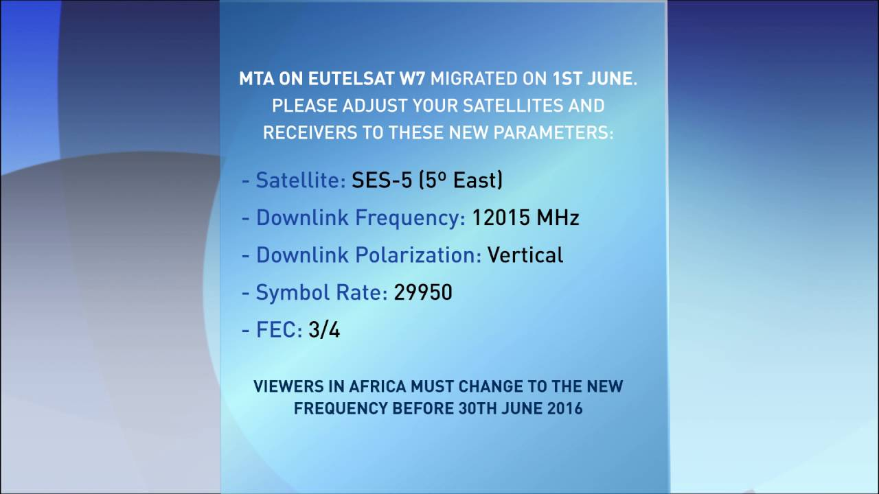 Satellite Frequency Details Africa Viewers Youtube