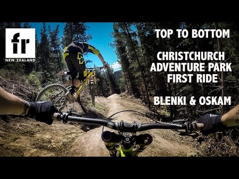 Top to Bottom - Blenki rides Christchurch Adventure Park for the first time