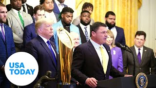 2019 National Champions LSU Tigers visit the White House (LIVE) | USA TODAY