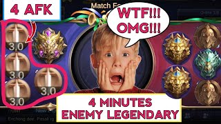 MYTHIC VS 2 LEGEND + EPIC | ENEMY SO FED 4 MINS LEGENDARY | MOBILE LEGENDS
