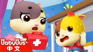 這裡有危險,小貓咪受傷了! | 安全教育兒歌 | 童謠 | 動畫 | 卡通 | 寶寶巴士 | 奇奇 | 妙妙