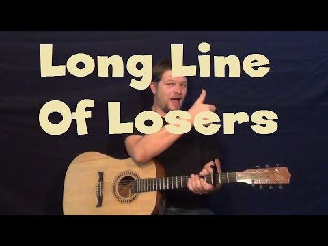 Long Line Of Losers (Montgomery Gentry) Easy Strum Guitar Lesson How to Play Tutorial