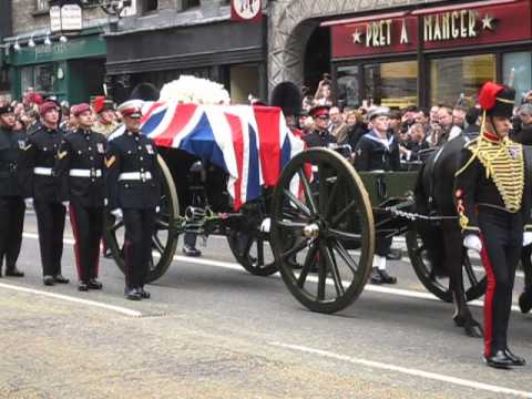Baroness Thatcher's Funeral Procession