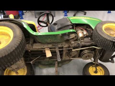 How to replace a transmission drive belt on John Deere L 130