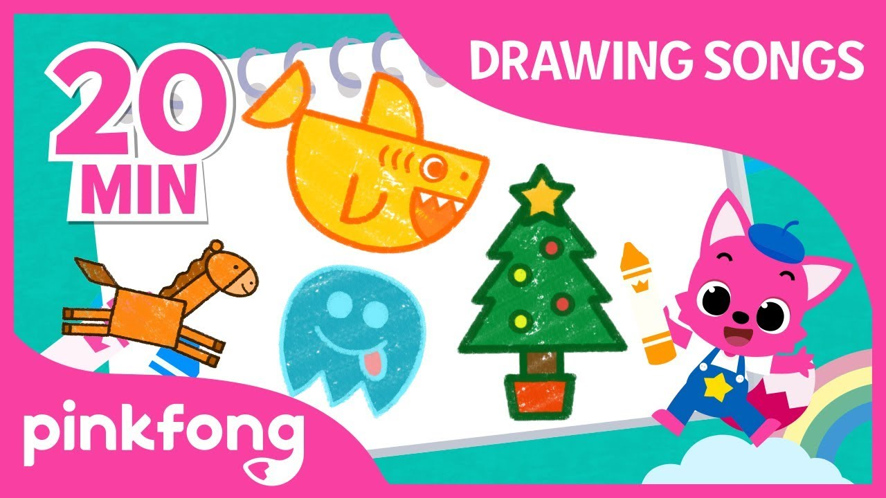 How to Draw Baby Shark and more Drawing Songs