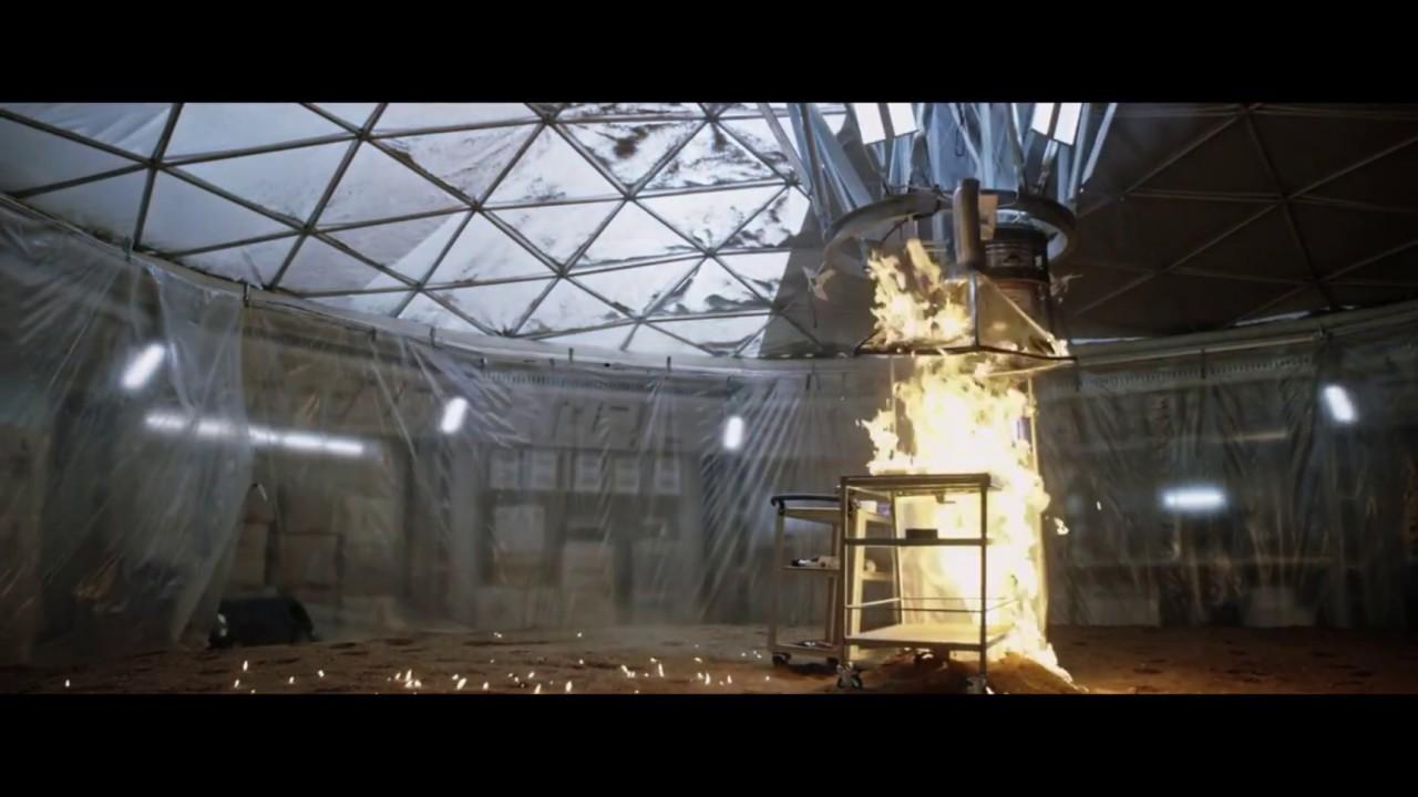 the martian  2015  - funny explosion scene  1440p
