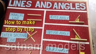 Lines and Angels    Types of lines and Angels    how to make lines and Angels model project