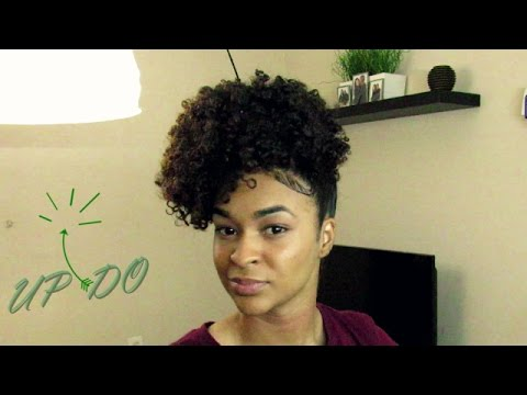 Curly hairstyles: Funky Updo