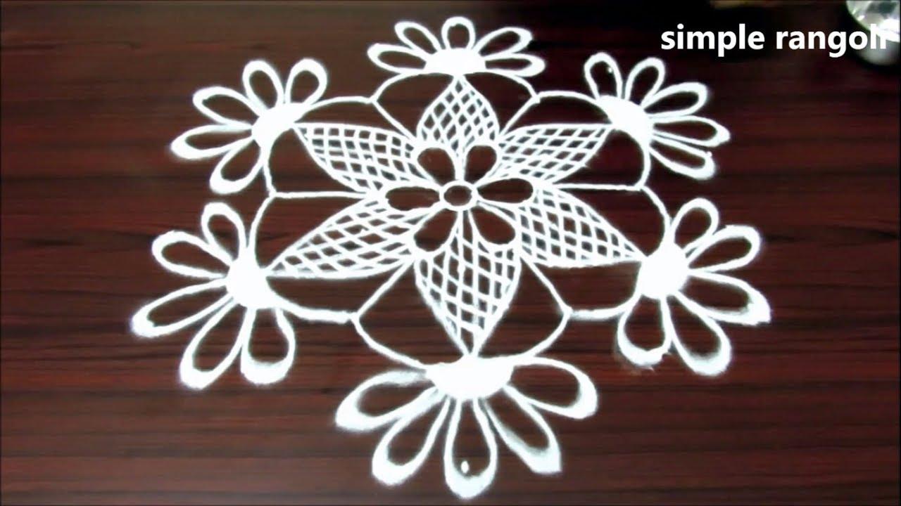 Very simple rangoli designs, simple daily kolam designs with 7x4 ... for small rangoli designs for daily  165jwn