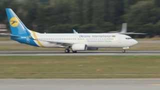 Ukraine International 737-800 Takeoff at Kiev Boryspil Airport - Аэропорт Киев Борисполь