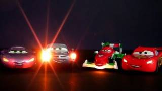 4 Cars Lights and Sounds diecasts