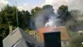 Paląca się sadza w kominie 2