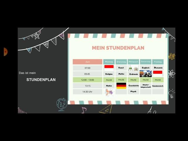Stundenplan In Deutsch Beschreiben Mendeskripsikan Jadwal Pelajaran Dalam Bahasa Jerman Youtube