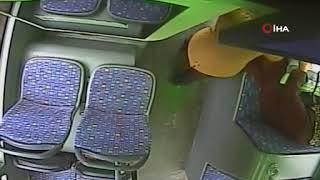 Otobüste darp olayının kamera görüntüleri