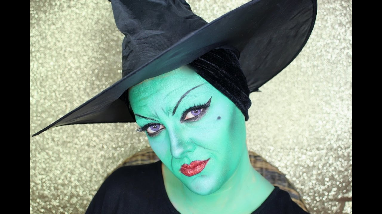 Wicked elphaba the green witch halloween makeup tutorial english wicked elphaba the green witch halloween makeup tutorial english baditri Images