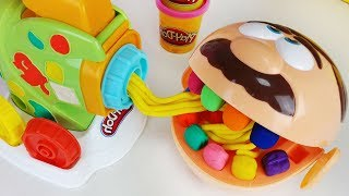 Baby doll Play Doh Dentist Doctor Drill and Play Doh noodle cooking food toys play - ToyMong TV 토이몽
