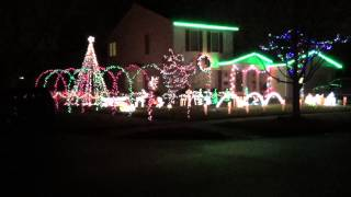 Carol of the Bells Trans-Siberian Orchestra - Christmas Light Show 2014