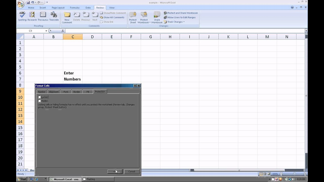Excel 2007  How to protect a worksheet and only allow users to     Excel 2007  How to protect a worksheet and only allow users to change  specific ranges   YouTube