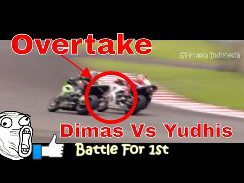 Duel Pembalap Indonesia Dimas Ekky Vs Ahmad Yudhistira ARRC Supersport Sirkuit Sentul 2017