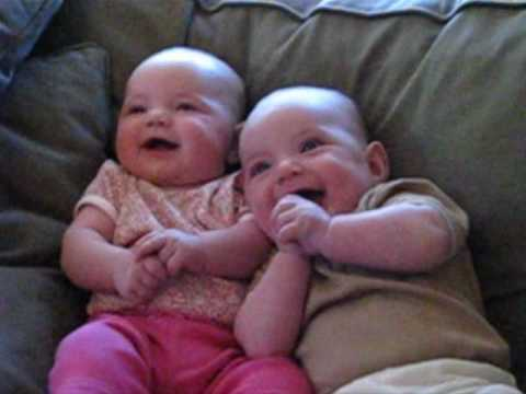 Twin Babies Laughing at Fake Sneezes