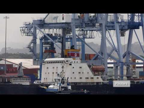 Panama finds fighter jet engines, military vehicles on North Korean ship