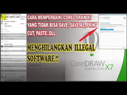 Urgent !! Cara merperbaiki Corel Draw X7 tidak bisa Save, Srint dan Ekspor