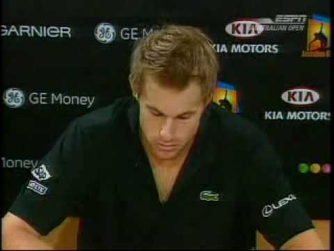 Roddick Interview v Federer Australian Open 07
