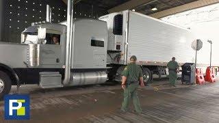 Así revisan los camiones en la frontera para evitar el tráfico humano de inmigrantes