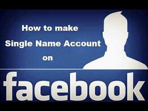 How to use single name on facebook 2015 from YouTube · Duration:  7 minutes 13 seconds