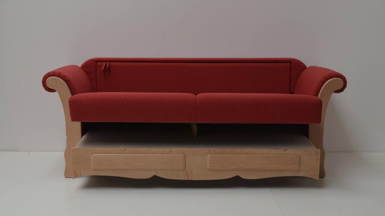 Landhausmöbel Auszieh Couch Achensee Stoff Folkore Ts 2387 Ts 2382